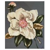 Vintage Framed Floral Prints by Rene