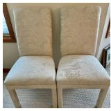 Pair of Cream Fabric Accent Chairs