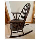 Vintage Shiny Dark Brown Rocking Chair
