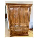 Thomasville Tall Dresser with Shelves and Drawers