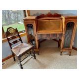 Amazingly Fabulous Vintage Secretary Desk and Chair