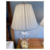 Pair of Etched Glass Lamps
