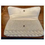 Vintage La Regale LTD White Sequin Evening Clutch