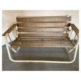 Wood and Metal Patio Glider