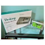 Radio Shack Desktop Cassette Recorder and a Chipmunks 110 Camera