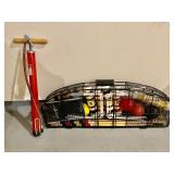 Croquet Set and a Dorsy Bicycle Pump