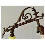 Vintage Ornate Brass Floor Lamp