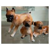 Three Adorable Dog Figurines