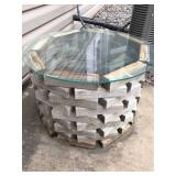 Handmade Round Table With Glass Top