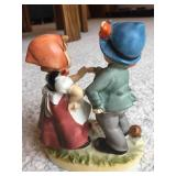 Arnart 5Th Avenue Hand Painted Boy and Girl Figure