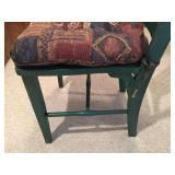 Vintage Green Wooden Table With 4 Chairs