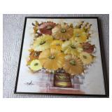 Oil On Canvas Floral Framed Art