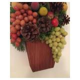 Hand Made Fruit Tree Wall Hanging With Wooden Base