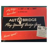 Vintage Auto Bridge Game In Original Box