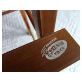 "Vintage American ""Teach N Fun"" Toy Highchair"