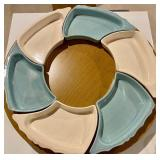 Very Neat Lazy Susan with Dividing Trays and a Center Casserole Dish