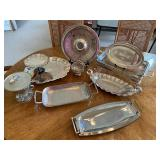 Silver Plate Serving Items