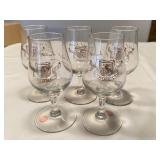 Set Vintage Michel Martell Brandy Snifters