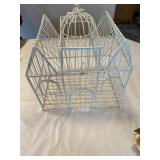 Vintage Bird Cage & Wall Sconce