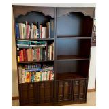 2 Three Shelf Bookcases With Storage