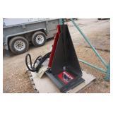 Brand New Grey Wolf Brand Universal Mount Bobcat Skid Loader Skid Steer Hydraulic Tree/Post Pulling Attachment