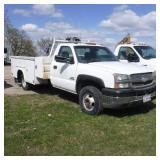 2003 Chevy Silverado 3500 Utility Truck