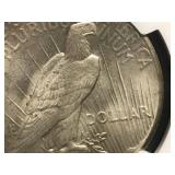 1927 P Peace Dollar MS62