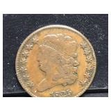 1825 Half Cent Classic Head