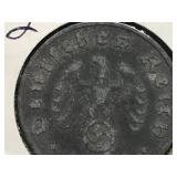 1940 J 10 Pfennig Nazi Coin