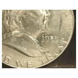 1955 P Franklin Half Dollar
