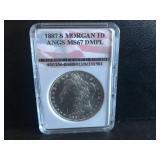 1887 S Morgan Dollar MS67 DMPL