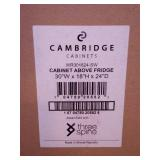 Ready to Assemble Threespine 30 in. x 18 in. x 24 in. Stock Wall Cabinet Above the Fridge in Shaker White by Cambridge