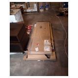 59 in. Rectangular Iron Oak 3 Drawer Executive Desk with File Storage by SAUDER