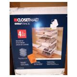 17 in. D x 21 in. W x 27 in. H ShelfTrack 4-Drawer Kit Steel Closet System in White by ClosetMaid