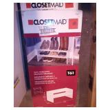 Selectives 24 in. W White Base Organizer for Wood Closet System