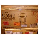 Backless Burnt Brown Swivel Stool (2-Pack) by OSP Home Furnishings