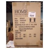Melanie 24 in. Brushed Aluminum Swivel Bar Stool by Home Decorators Collection