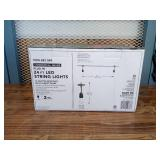24 Ft - 12-Light Indoor/Outdoor Commercial String Light with S14 Single Filament LED Bulbs