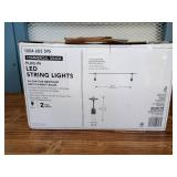 48 Ft - 24-Light Indoor/Outdoor Commercial String Light with S14 Single Filament LED Bulbs
