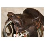 "Leather 13"" Pony Western Saddle"