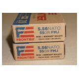 40 Frontier Cartridge 5.56 NATO 55 Gr FMJ Ammo