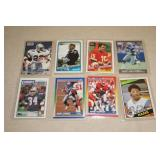 8 Rookie and Early Career Football Cards - Jackson, Emmitt, Sanders, Herschel