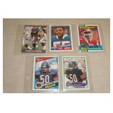 5 Rookie and Early Career Football Cards - Singletary, Seau, Bennett, Thomas