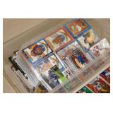 Bin of Sports Cards - Football, Baseball, Racing