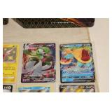 Large Mixed Lot of Pokemon Cards and Cases - Rares, Full Art, Holos