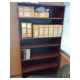 MSRP $900 High Quality HON Executive Office Mahogany Finish 6 Level Bookcase Shelving Unit - Made To Last More Than A Life Time - Excellent Condition!  Contents Not Included! Matches Other Pieces In T