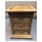 Hammary Furniture Wood 3 Drawer End Table Or File Cabinet - Great Condition!