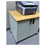 2 Door Storage Cabinet Cupboard Desk Table - Wear To Top - Otherwise Great Condition!