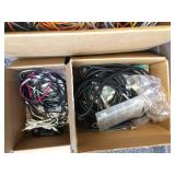 Box of Wires and Cords (Usb, Internet Cable, etc.)