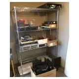 "Tons of Computer parts, Cords and MIsc.  "" SHELF NOT INCLUDED"" - Untested!"